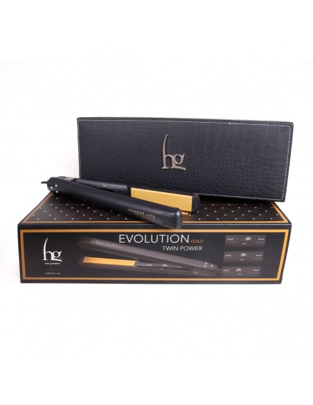 Piastra per capelli Hg Evolution Twin Power oro